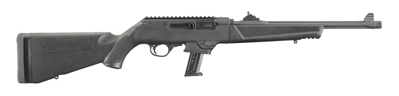 "RUGER PC CARBINE, 9 MM, FLUTED BARREL, GÄNGA ½""-28, 16,1"""